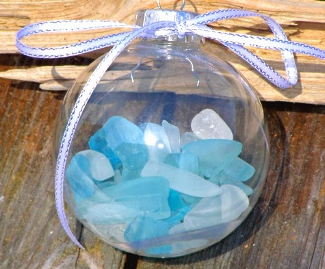 beach glass ornaments