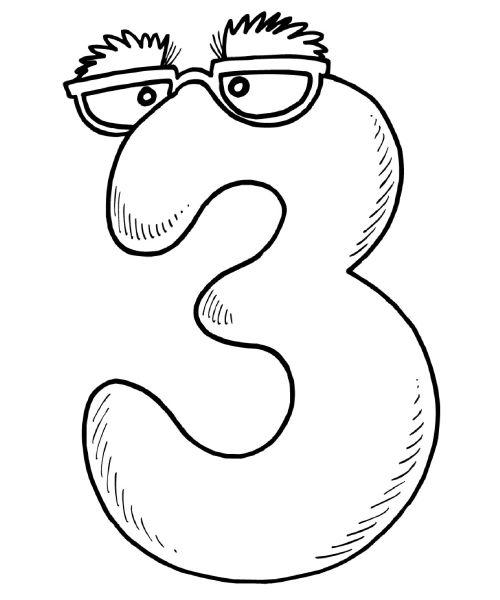 Desenhos Para Pintar E Imprimir Desenho Do Numero 7 Desenhos