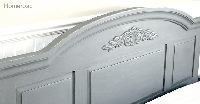Chalk Painted headboard and footboard