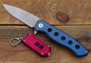 FURA titanium flipper with D2 blade & Nitecore TIP