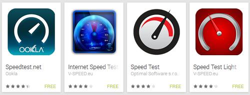 Broadband speed test apps