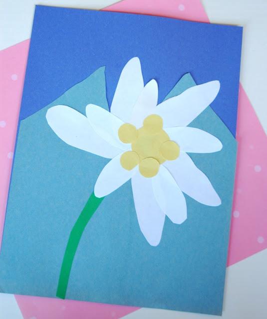 Edelweiss Flower Craft for Switzerland, Austria, Heidi, or Sound of Music