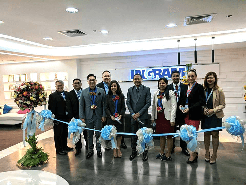 Ingram Micro Executives at the ribbon cutting in their new Upper Mckinley Center