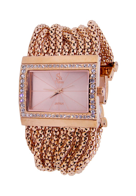 sk time mesh band watch