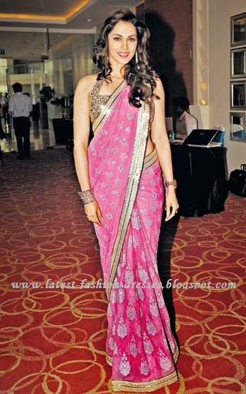 BOLLYWOOD PINK COLOUR SAREE IN ISHA GOPIKAR