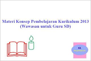 materi tentang konsep pembelajaran dalam kurikulum 2013