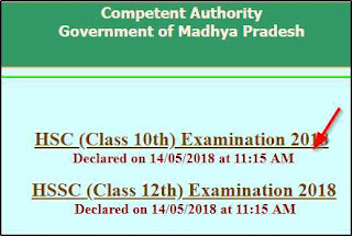 MP SSC 10th Result