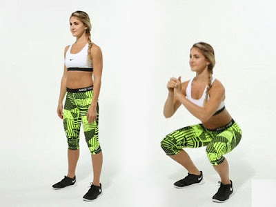 Tư thế ngồi xổm(squat rộng chân)