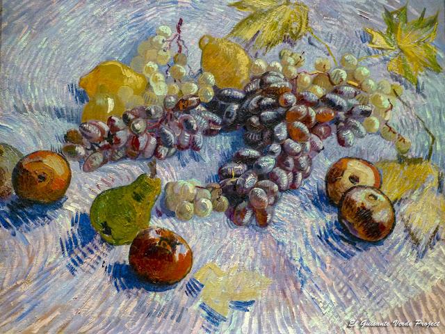 Van Gogh, Uvas, limones, peras y manzanas - Art Institute, Chicago por El Guisante Verde Project