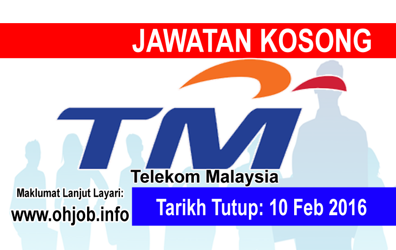 Jawatan Kerja Kosong Telekom Malaysia Berhad (TM) logo www.ohjob.info februari 2016