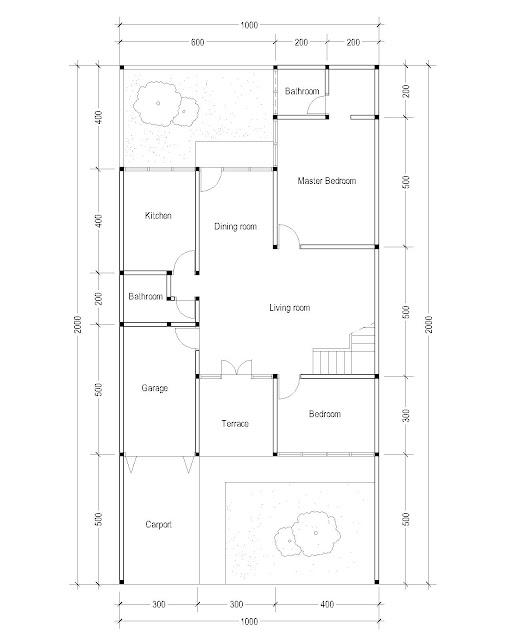 1st Floor Plan for Plan c-08