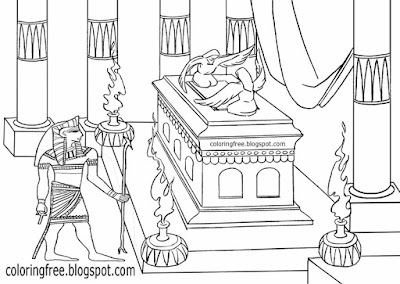 Historical burial pharaoh tomb chamber prints Valley of the Kings Egyptian sarcophagus coloring page