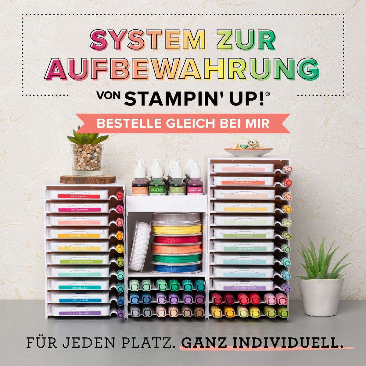 Aufbewahrung für Marker, Stempelkissen und Nachfüller von Stampin' Up!