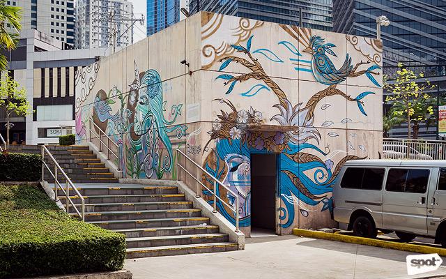 Taguig the city as a blank canvas according to artbgc for Bonifacio mural painting