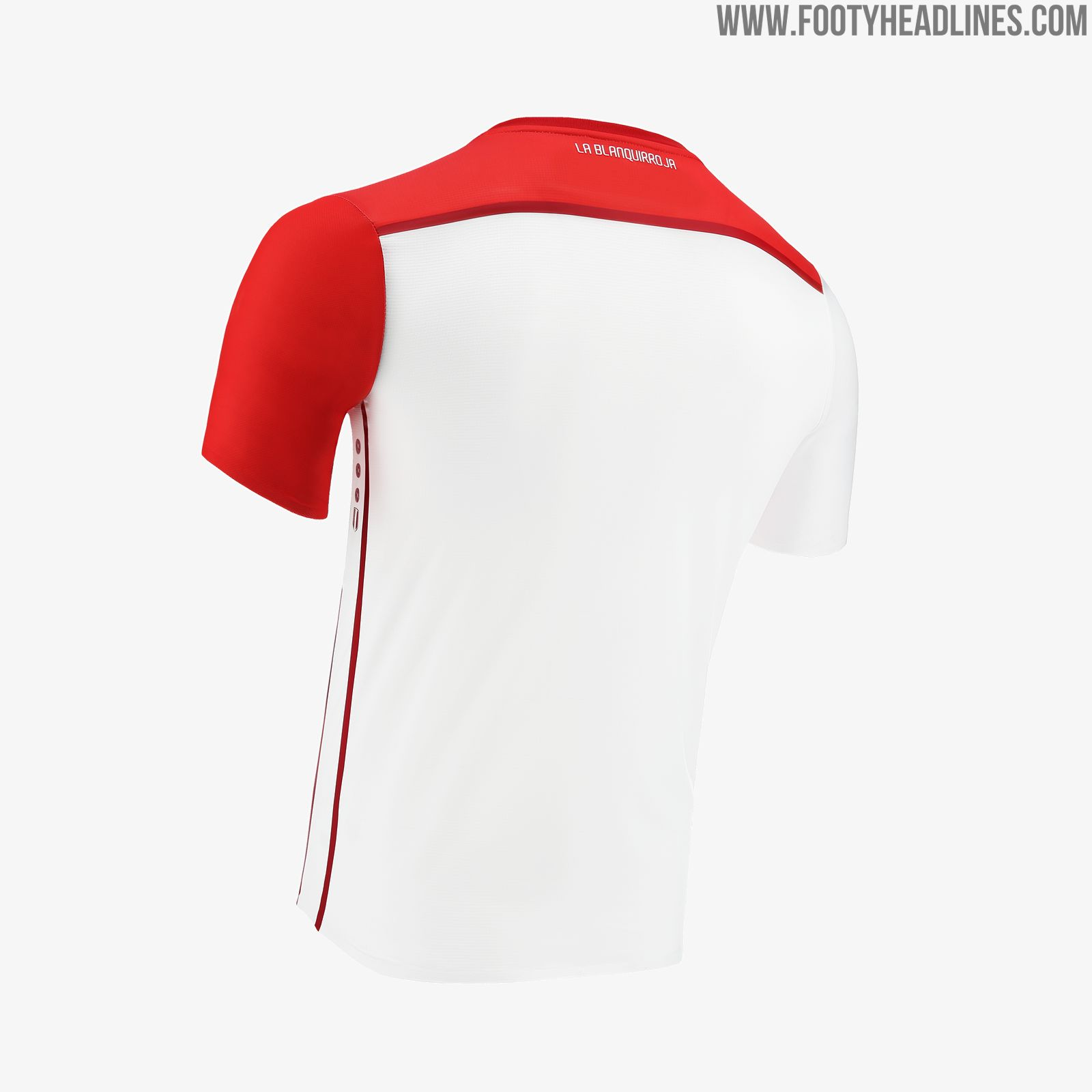 5d8c84928a1 The new Peru home jersey introduces a pretty unique take on the classic red  sash design as Marathon Sports don't shy away from possible controversies.