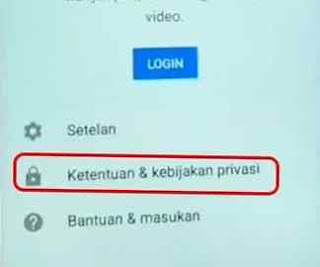 menu login di youtube