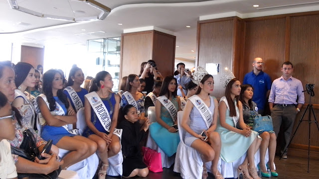 aqua mineral The beauty bloggers and Miss Tourism Philippines