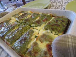 Baked green pancakes
