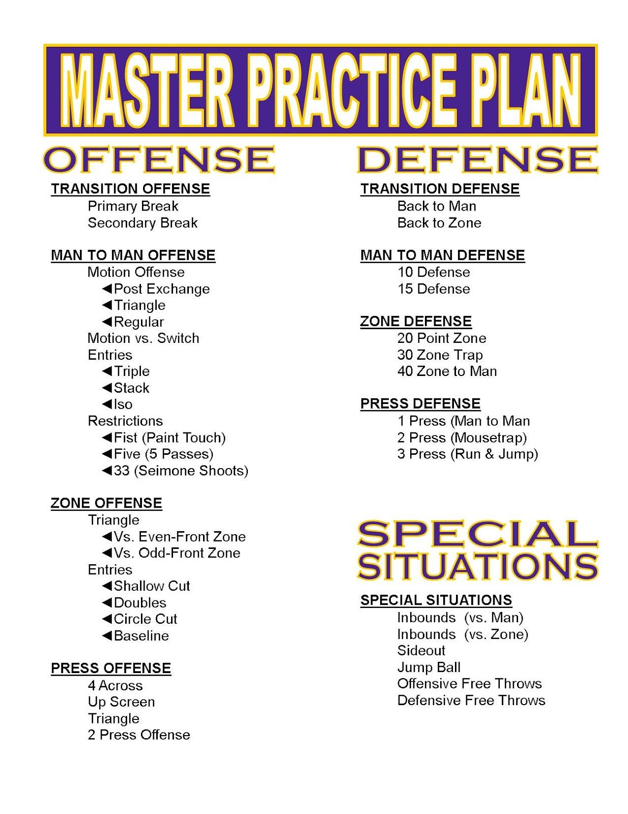 basketball practice schedule template