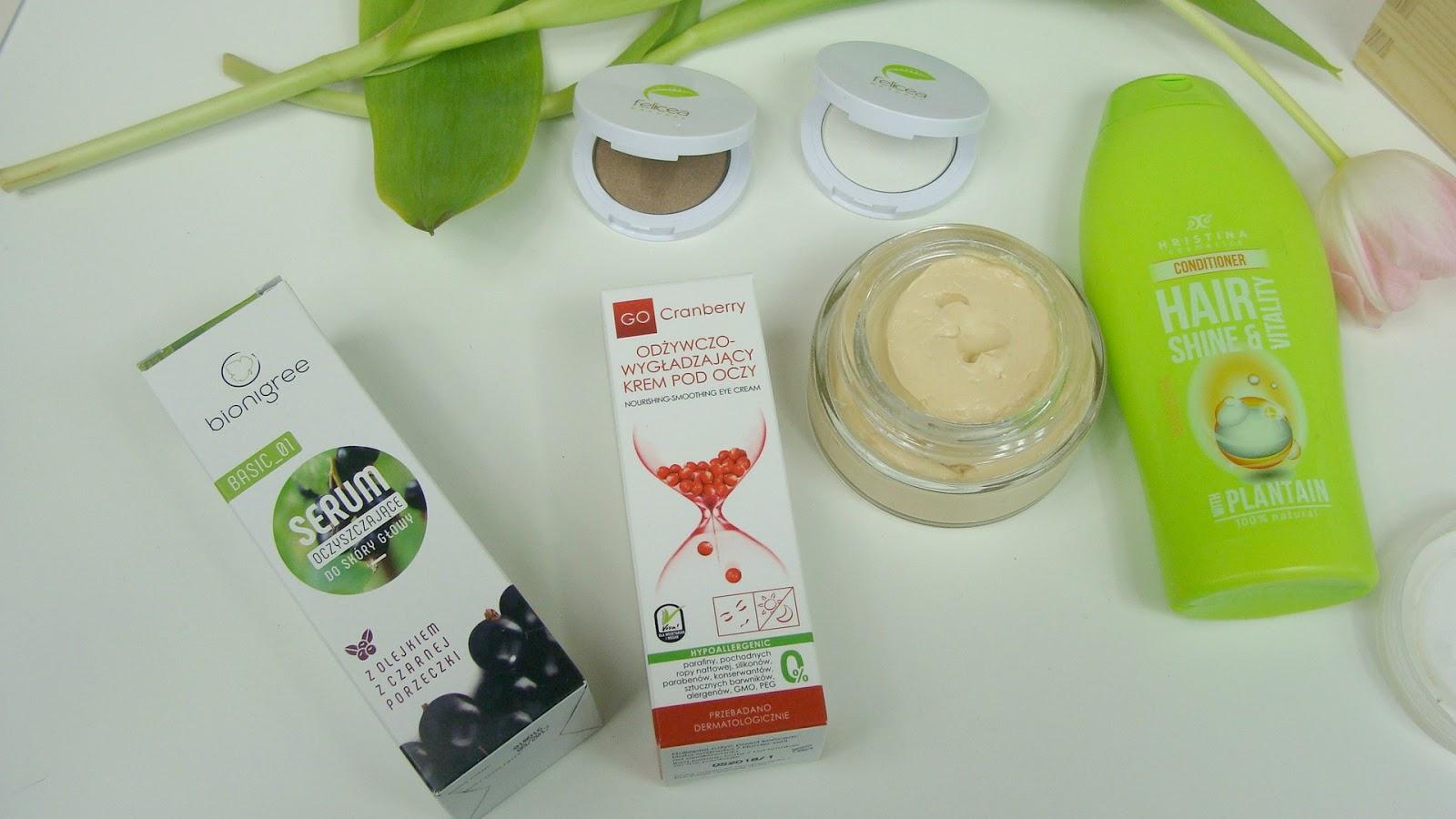 Kosmetyki naturalne, które warto poznać, Hristina, czeskie kosmetyki, felicea, cienie do oczu felicea, GoCranberry, NovaKosmetyki, krem do oczu gocranberry, maska bursztynowa, bionigree, bionigree serum oczyszczające do włosów