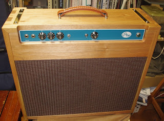 Front view of GreenReverb guitar amplifier