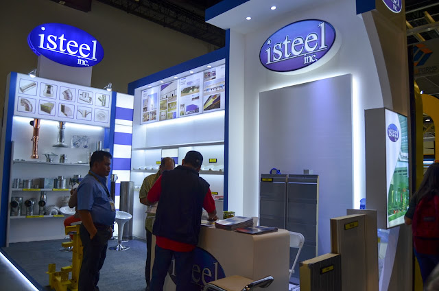 isteel exhibit booth