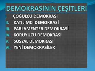 Demokrasi ve Demokrasi Çeşitleri