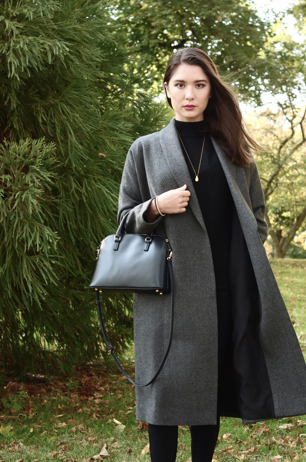 everlane belted wool shawl coat review photos