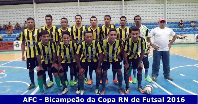 Resultado de imagem para AFC volta pra casa com o título na bagagem - Bicampeão da Copa RN de Futsal 2016