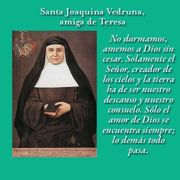 Amigos De Teresa 22 De Mayo Santa Joaquina Vedruna