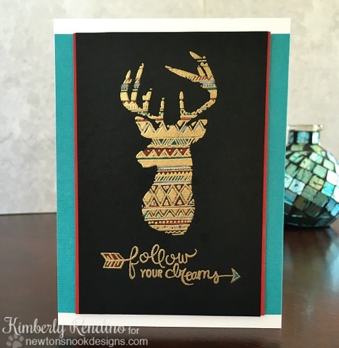 Follow Your Dreams Deer Card by Kimberly Rendino| Adventure Awaits Stamp set by Newton's Nook Designs #newtonsnook