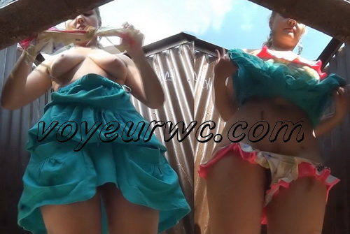 Beach Cabin 2048-2053 (Girls dress up in a beach cabin. Hidden Cam Beach Cabin)