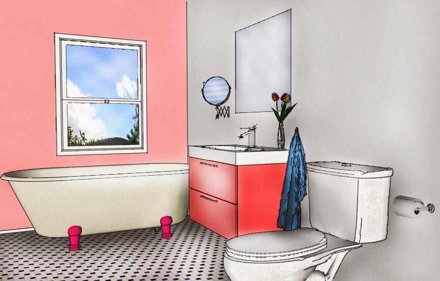 baño rosa
