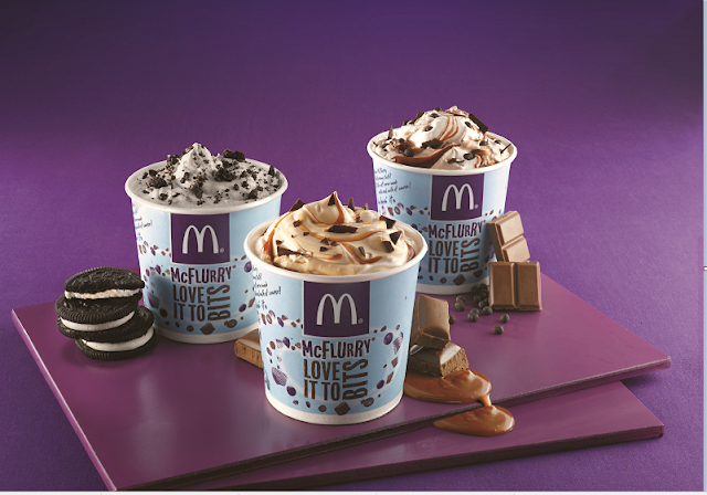3 flavours of McFlurry