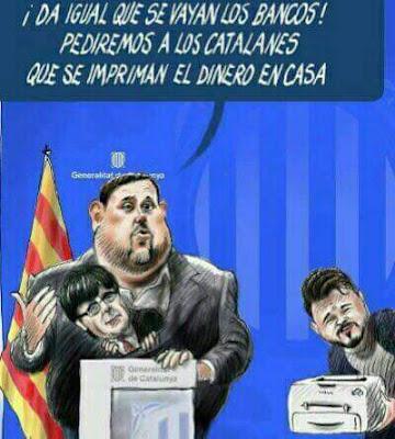 Junqueras, da igual que se vayan los bancos, pediremos a los catalanes que se impriman el dinero en casa