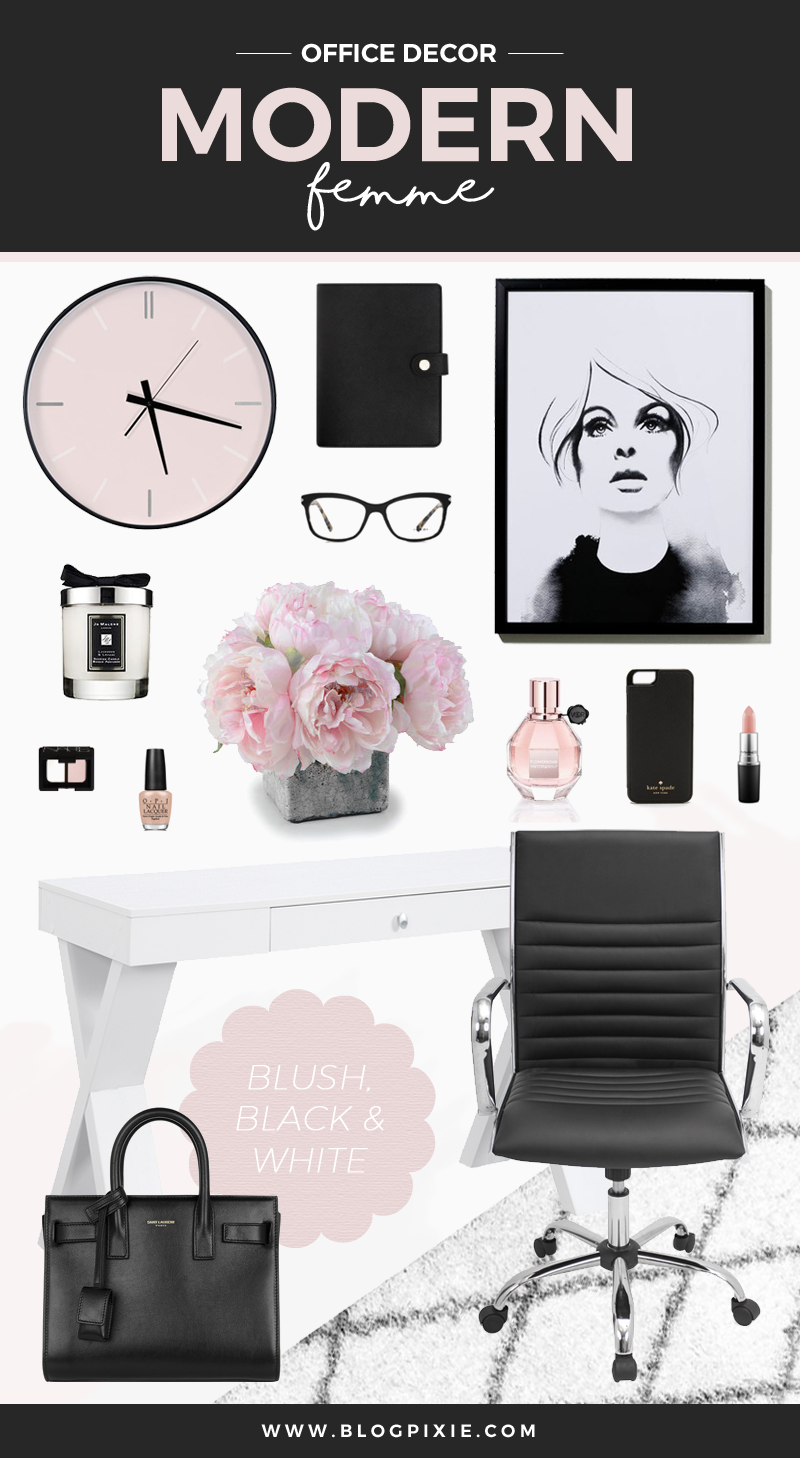 Modern Femme Office Decor Inspiration