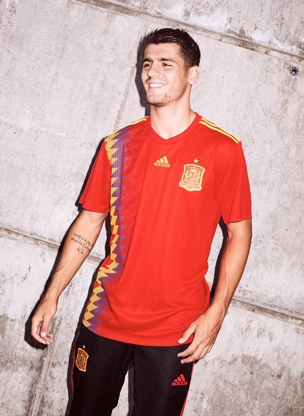 Spain's 2018 World Cup shirts are inspired by those worn in the 1994  tournament. It boast a modern take of the diamond-shaped 1994 pattern on  the right side ...