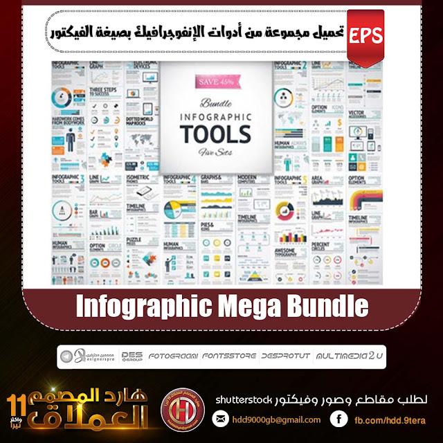 تحميل مجموعة من أدوات الإنفوجرافيك | Infographic Mega Bundle