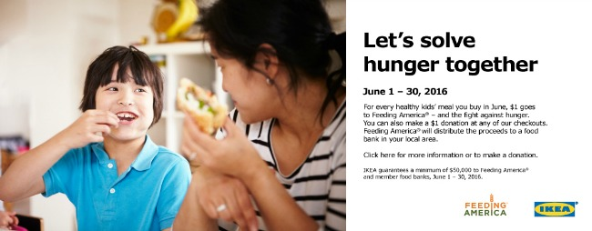 IKEA donate local food bank solve hunger