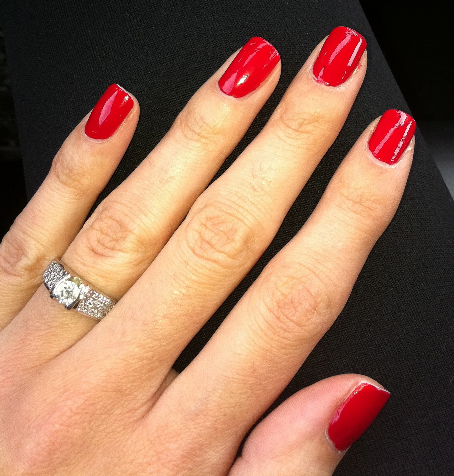 one painted finger nail 13 beautiful red painted ...