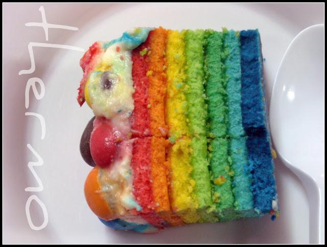 Tarta arco iris receta