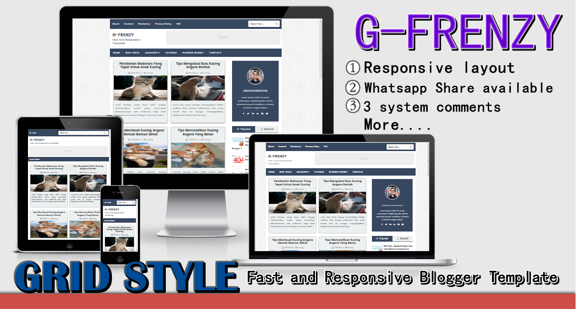 G-Frenzy Responsive Blogger Template