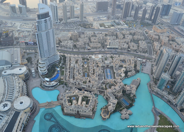 view from Burj Khalifa - At The Top observation deck