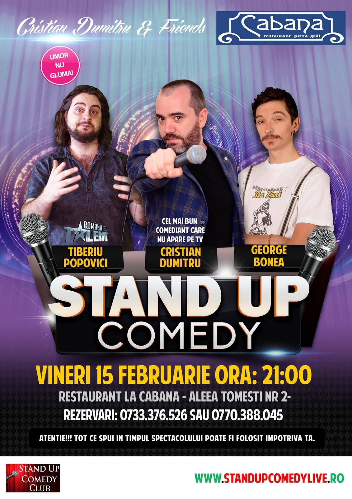 Stand-Up Comedy Bucuresti Vineri, 15 Februarie 2019