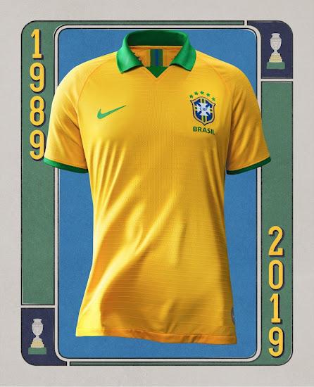 hot sale online 15335 5da3a Nike Brazil 2019 Copa America Home Kit Revealed - Footy ...