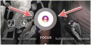 Tombol Fitur 'Focus' Instagram