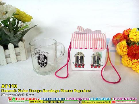 Souvenir Gelas Serayu Surabaya Kemas Paperbox