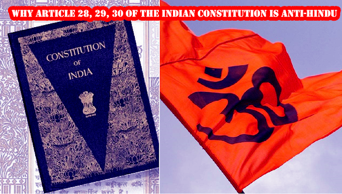Why Article 28, 29, 30 of the Indian Constitution, should be removed
