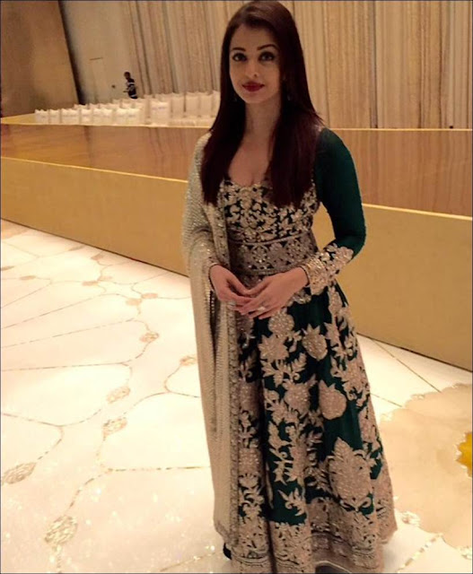 Aishwarya Rai Ambani Party Green Gown