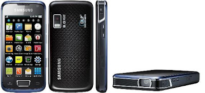 Samsung i8520 Beam front, back, side, and flat views